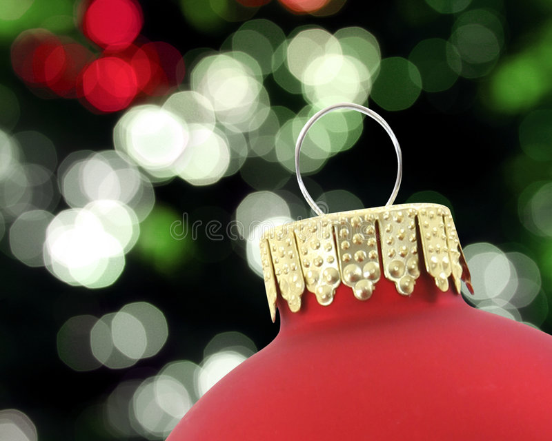 Red ornament closeup royalty free stock image