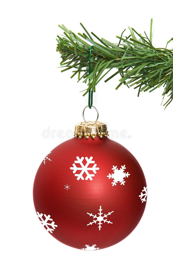 Download Red ornament hanging stock image. Image of object, holiday - 3746971