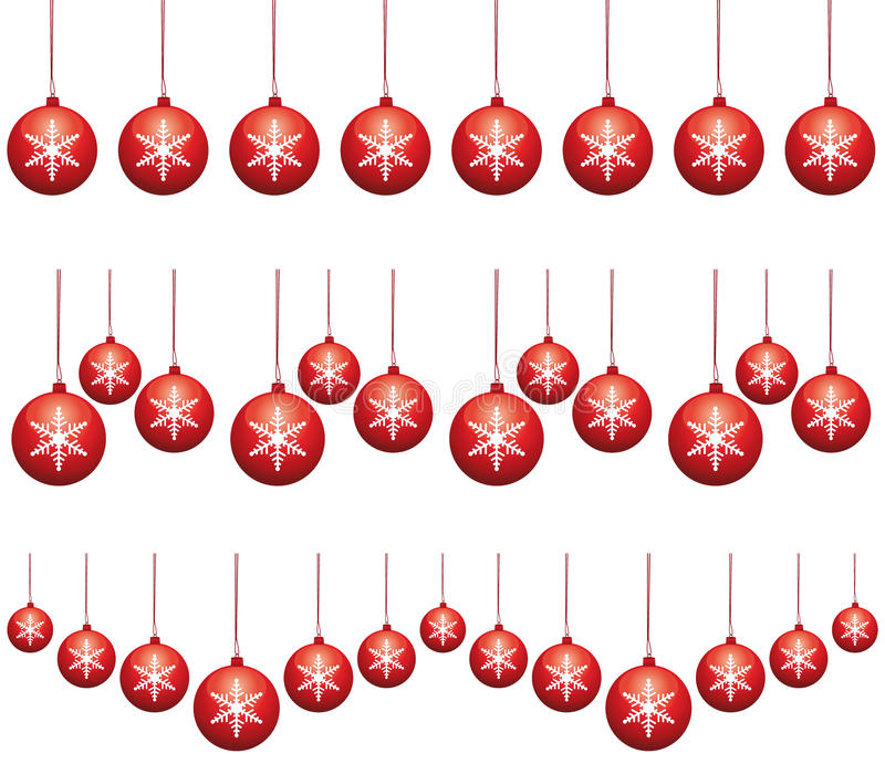 Download Red Ornaments Tinsels. Stock Photo - Image: 22047400