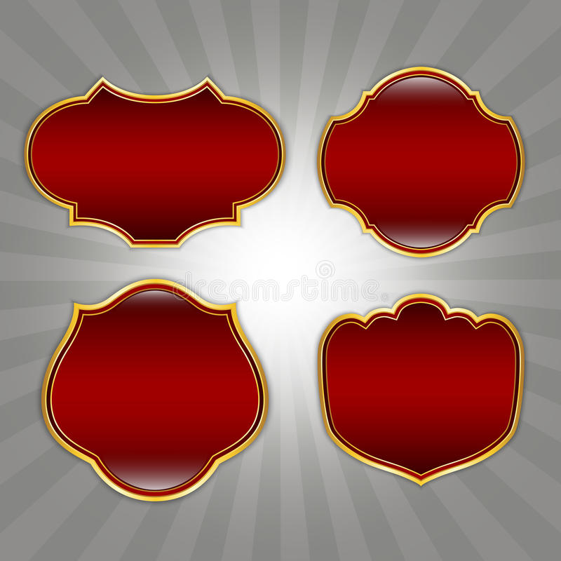 Download Red Ornate Retro frames stock vector. Image of decoration - 26183746