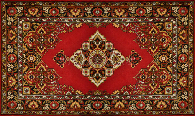 Red Ornate Traditional Carpet Texture Stock Images Image