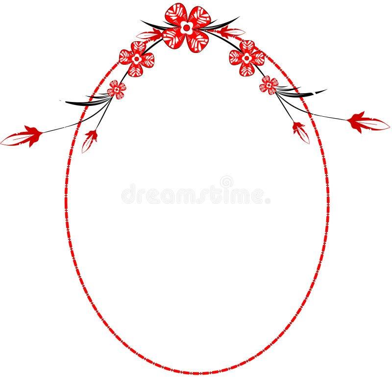 Download Red oval frame stock illustration. Image of design, season - 21412367