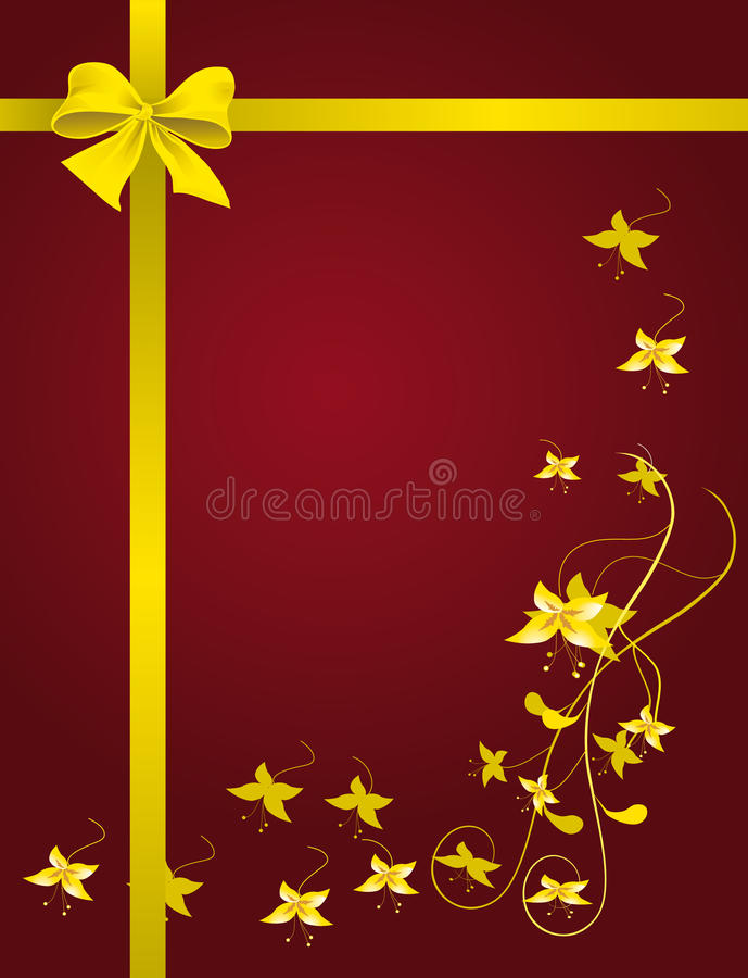 Download Red packet with a ribbon stock vector. Image of birthday - 13385386