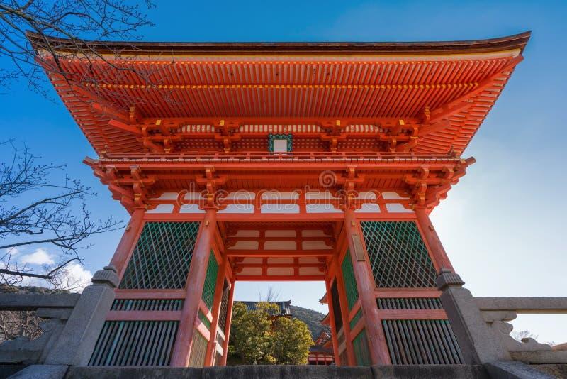 Red pagoda Beautiful architecture in Kiyomizu dera temple, Kyoto. Japan stock images