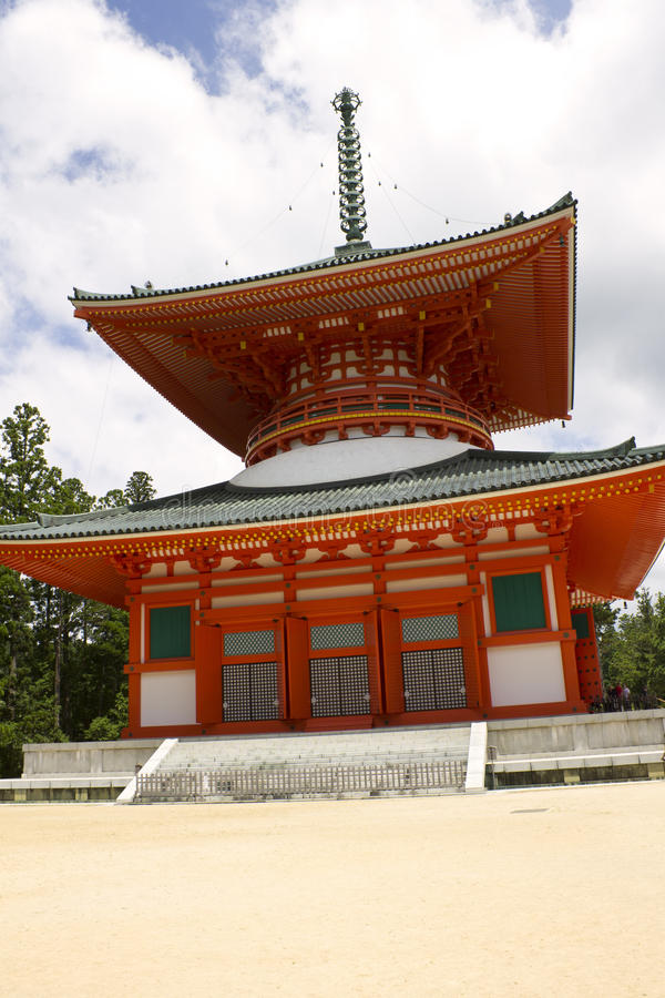 Download Red Pagoda Temple On Mount Kōya Royalty Free Stock Photography - Image: 21424647