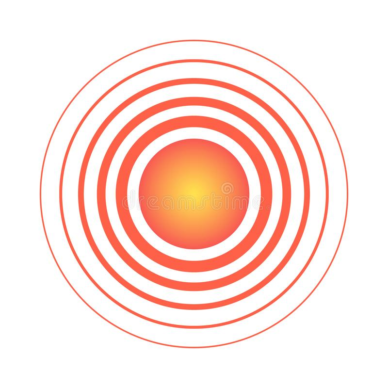 Red pain circle isolated on the white background. For needs vector illustration