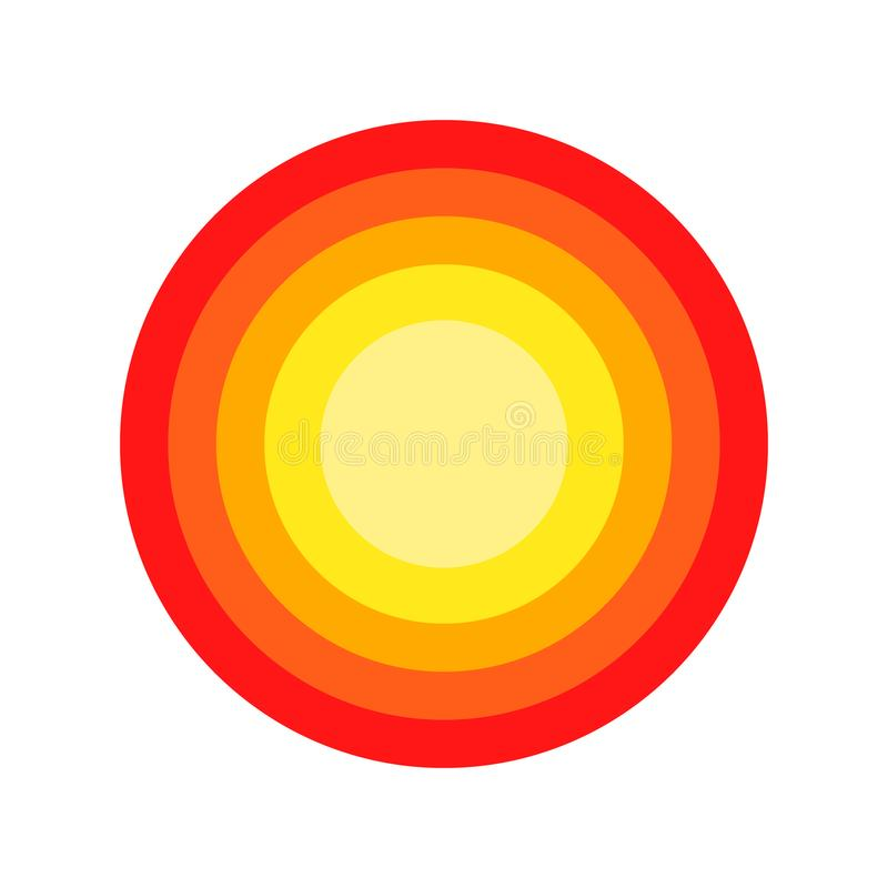 Red pain circle isolated on the white background. For needs royalty free illustration