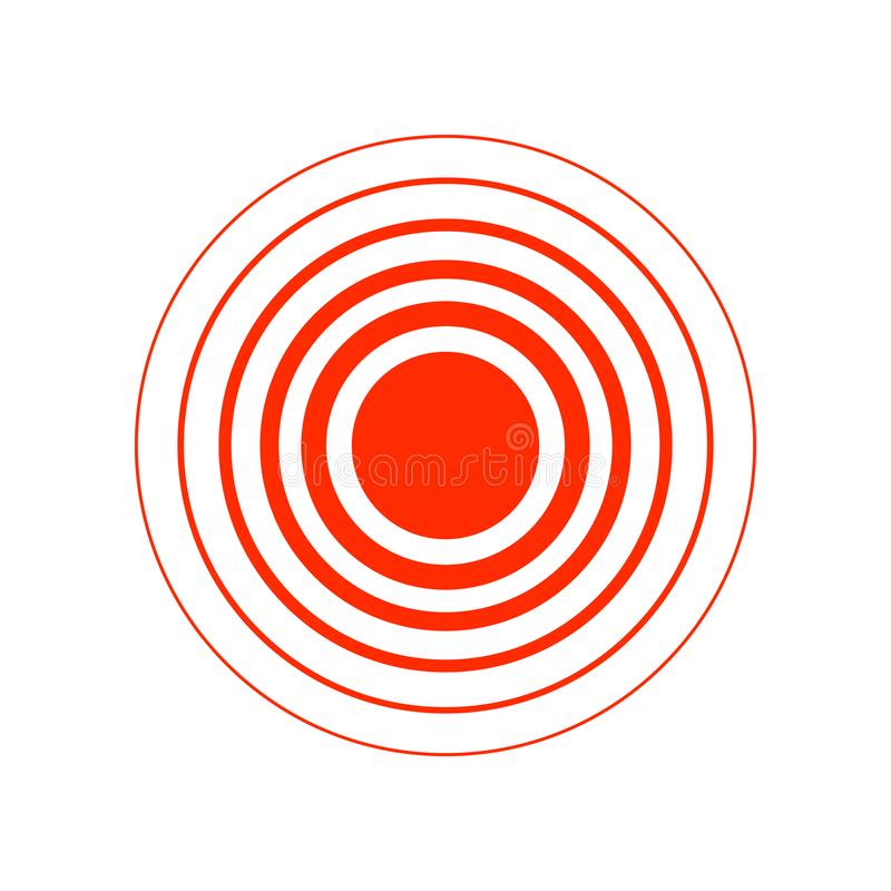 Red pain circle isolated on the white background. For needs stock illustration
