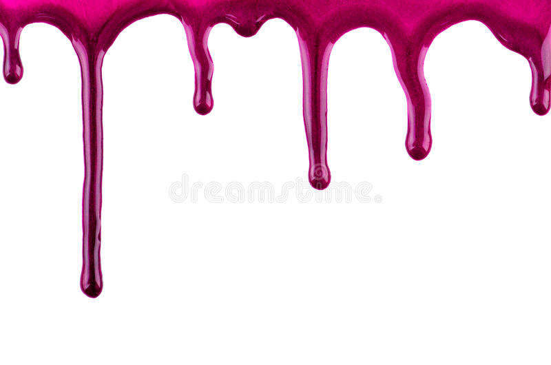 Red paint blots. On isolated white background with place for text stock photos
