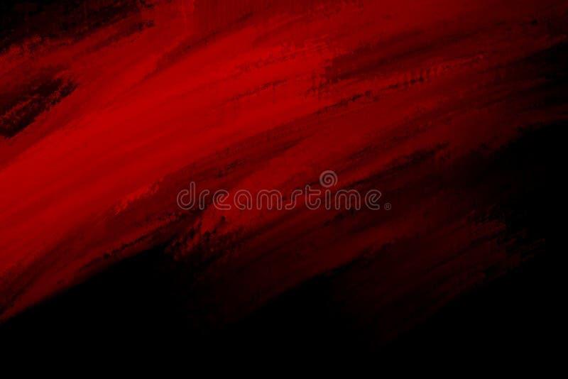 Red paint brush stroke on black background. For design worrk stock photos