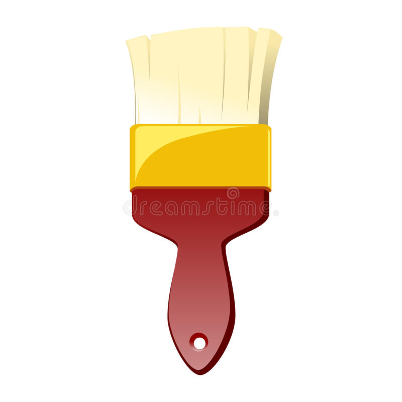 Download Red Paint Brush Vector stock vector. Image of orange - 21040526