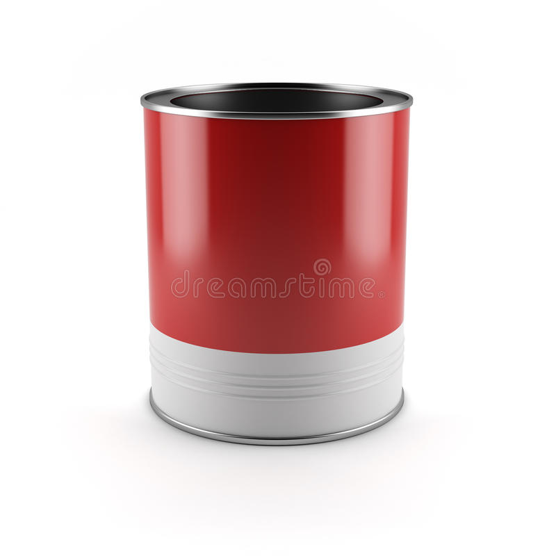 Download Red paint container stock illustration. Image of decorating - 27896850