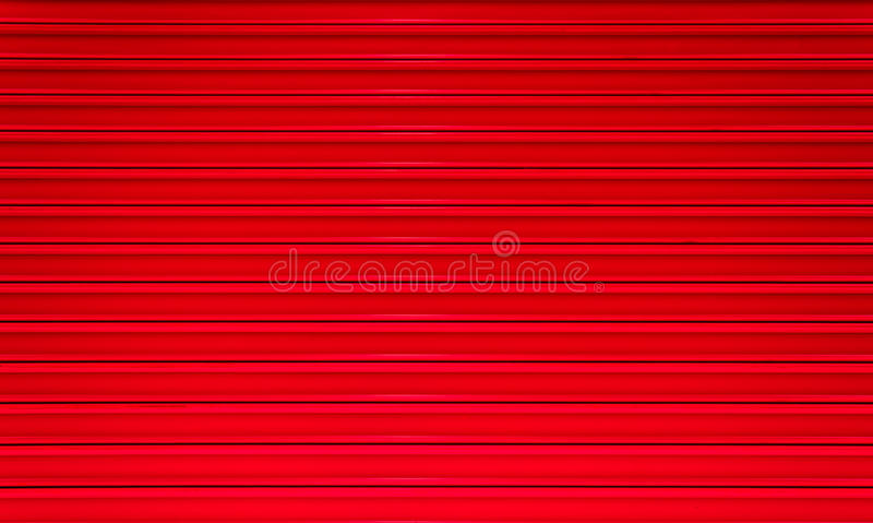 Red Paint Corrugated Metal Royalty Free Stock Image