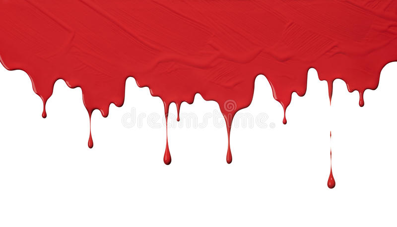 Download Red paint drips stock photo. Image of drop, white, droplet - 42694856