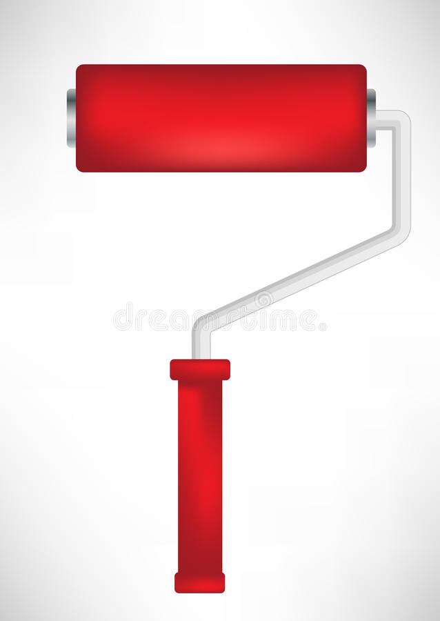 Download Red paint roller tool stock vector. Illustration of choice - 21620003