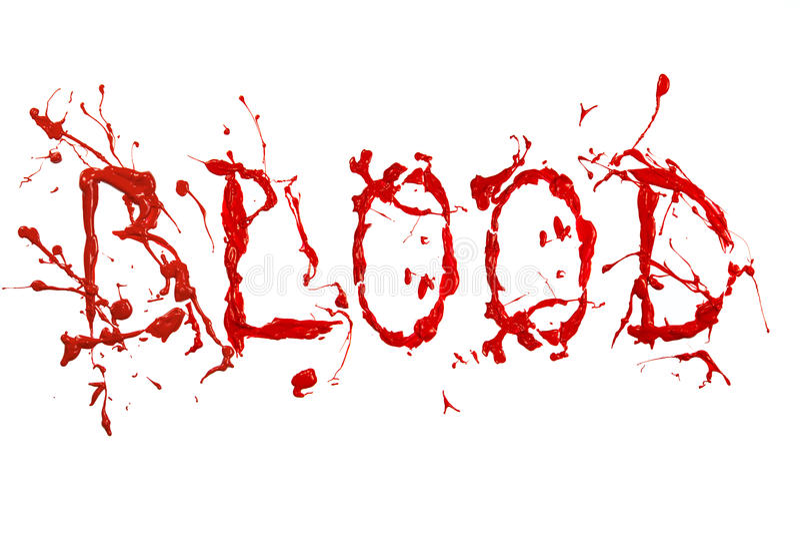Red Paint Splash Painted Word Blood Stock Illustration