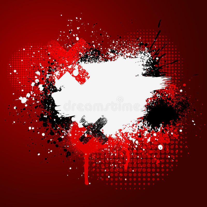 Download Red paint splatter stock vector. Image of template, pattern - 11744346