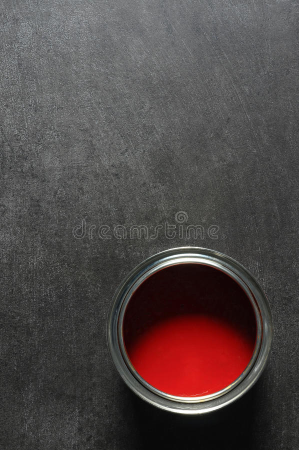 Download Red paint tin stock photo. Image of interior, colorful - 15207354