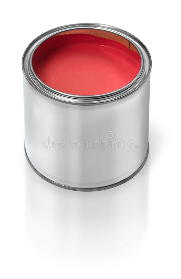 Download Red paint tin can stock image. Image of empty, metal - 16345747