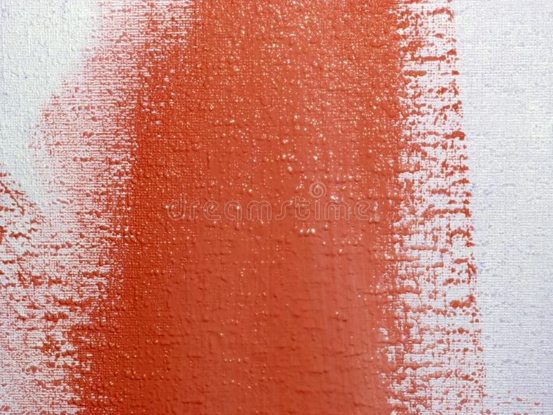 Red paint on a wall stock photography