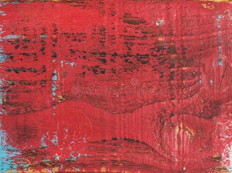Red painted old rustic shabby wood texture royalty free stock photo