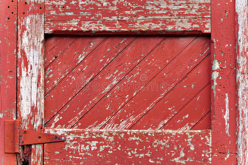 Download Red Painted Wood Paneling stock image. Image of hinge - 17222703
