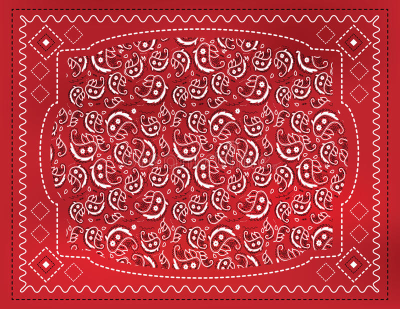 Download Red Paisley Handkerchief stock vector. Image of country - 28926354