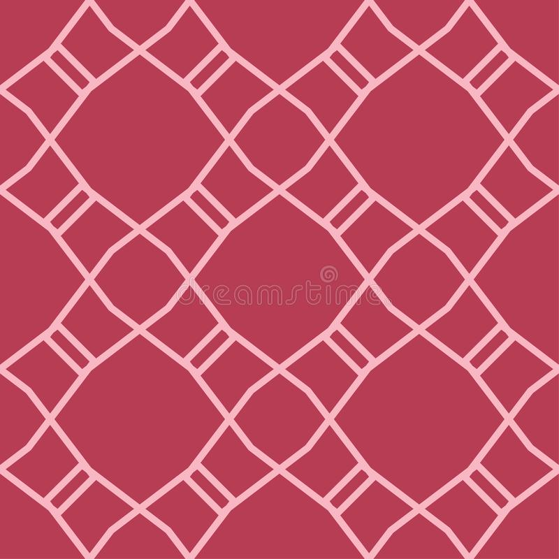 Red and pale pink geometric ornament. Seamless pattern royalty free illustration