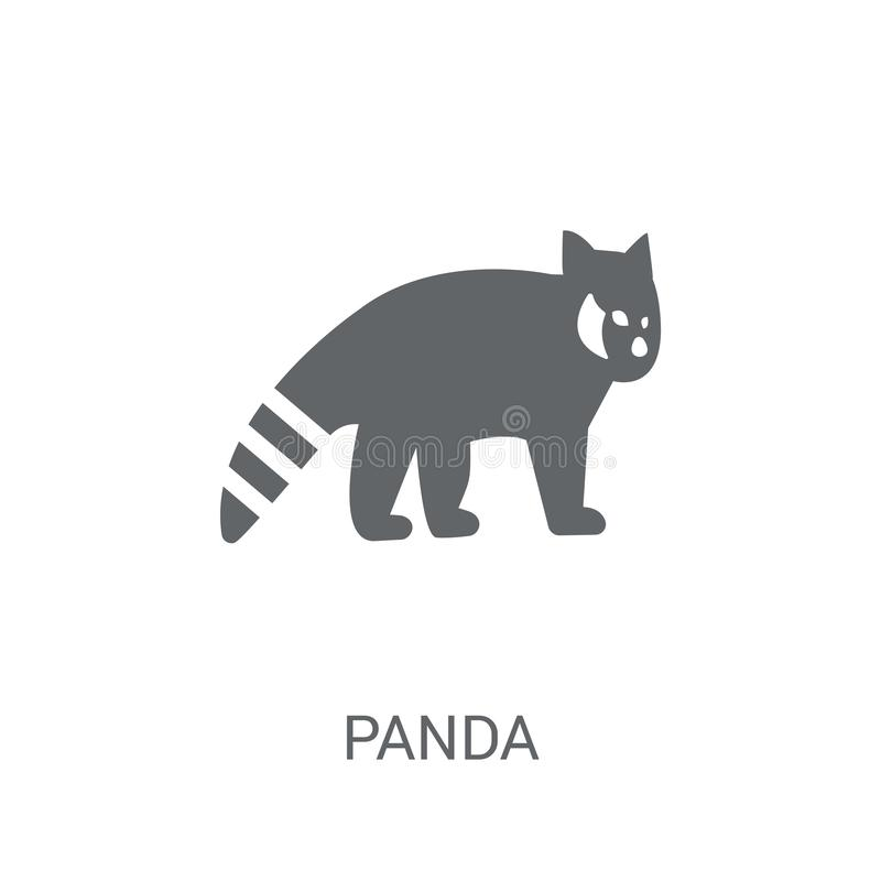 Red panda icon. Trendy Red panda logo concept on white background from animals collection. Suitable for use on web apps, mobile apps and print media royalty free illustration