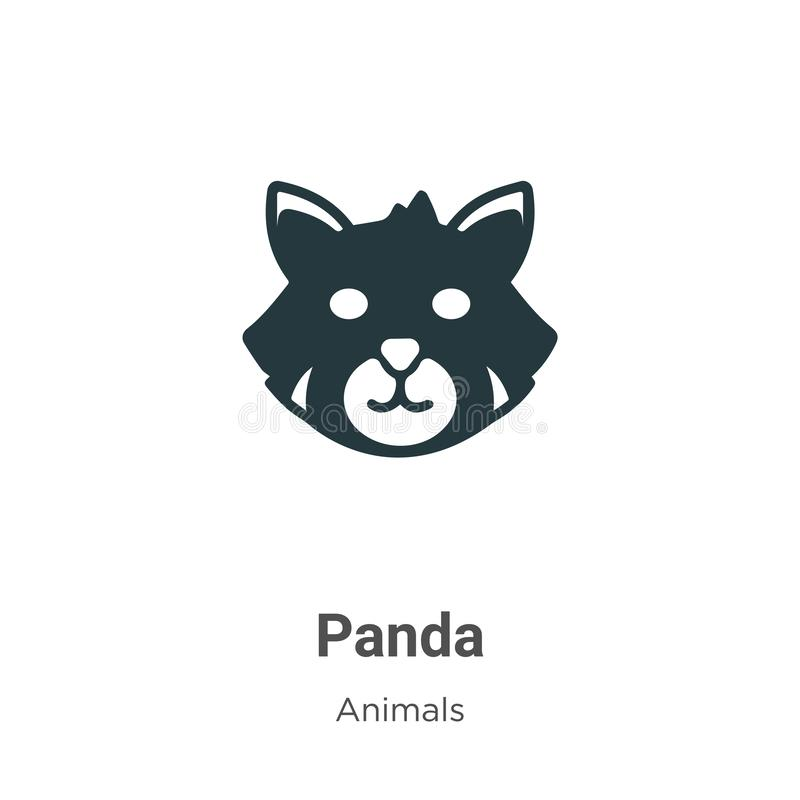 Red panda vector icon on white background. Flat vector red panda icon symbol sign from modern animals collection for mobile. Concept and web apps design royalty free illustration