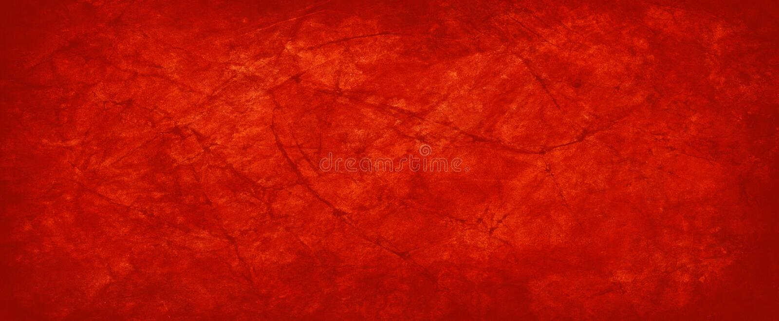 Red paper background with old vintage texture and grunge in wrinkled creased paper illustration, Christmas background stock photos