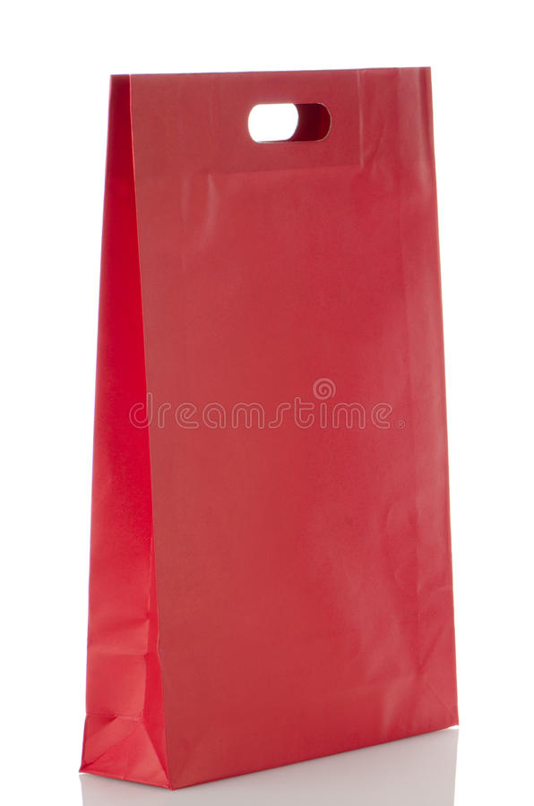 Download Red  paper bag stock image. Image of purchase, object - 26933361