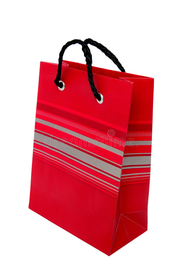 Download Red paper bag stock photo. Image of handle, lines, gift - 516500