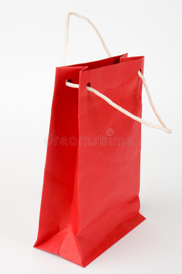 Download Red paper bag isolated stock image. Image of bright, sale - 17120315