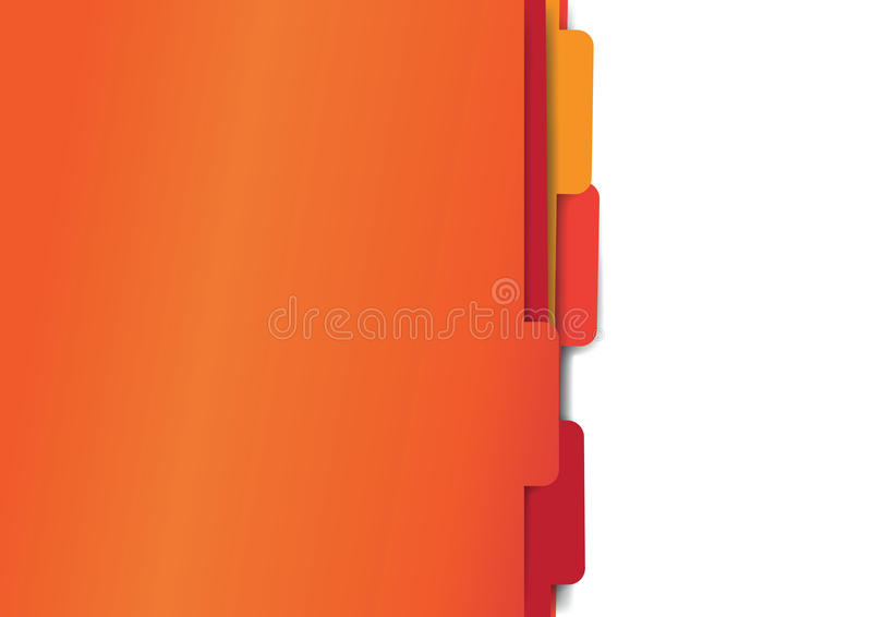 Red paper folder files stock illustration