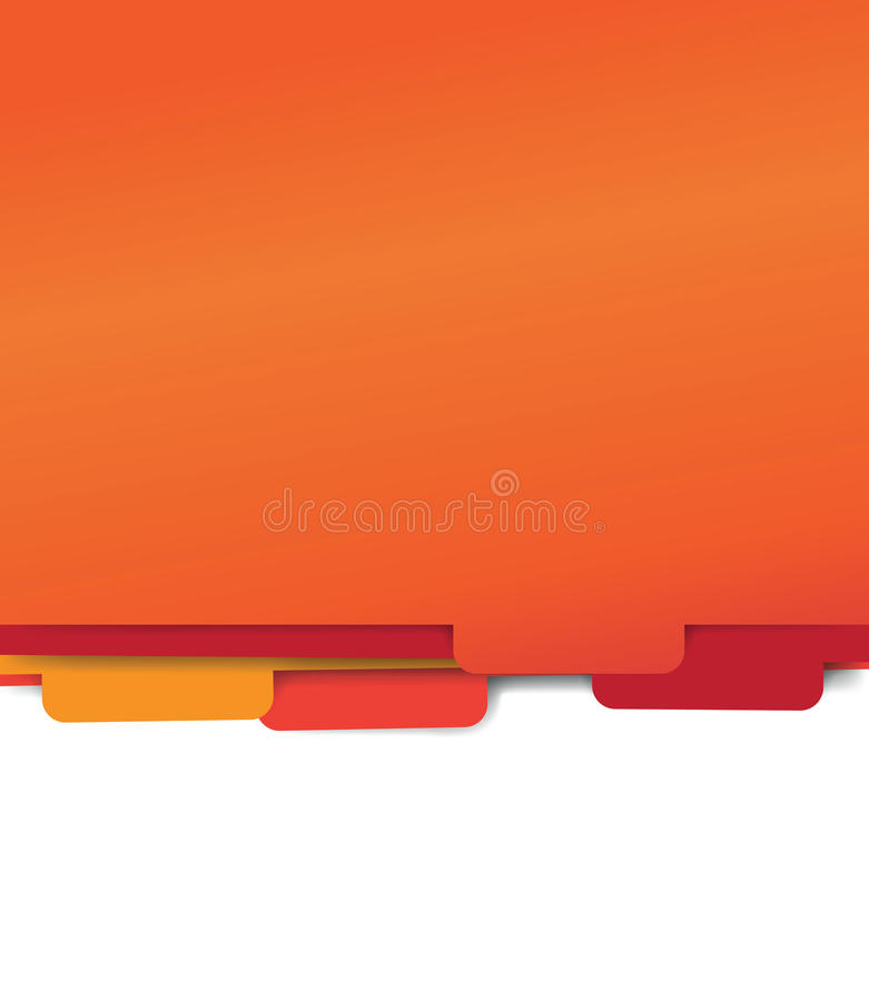 Red paper folder files vector illustration