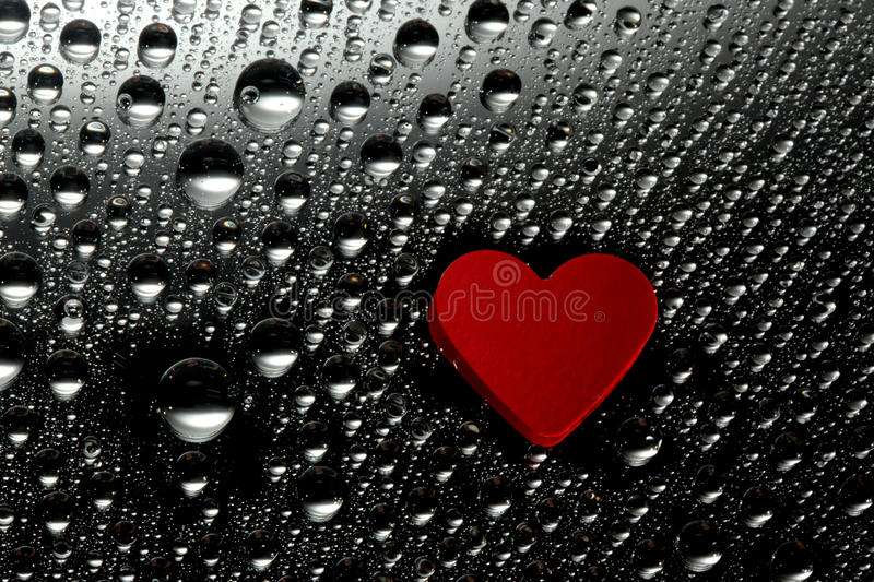 Download Red paper heart stock image. Image of drink, condensation - 10036087