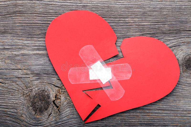 Red paper heart royalty free stock image