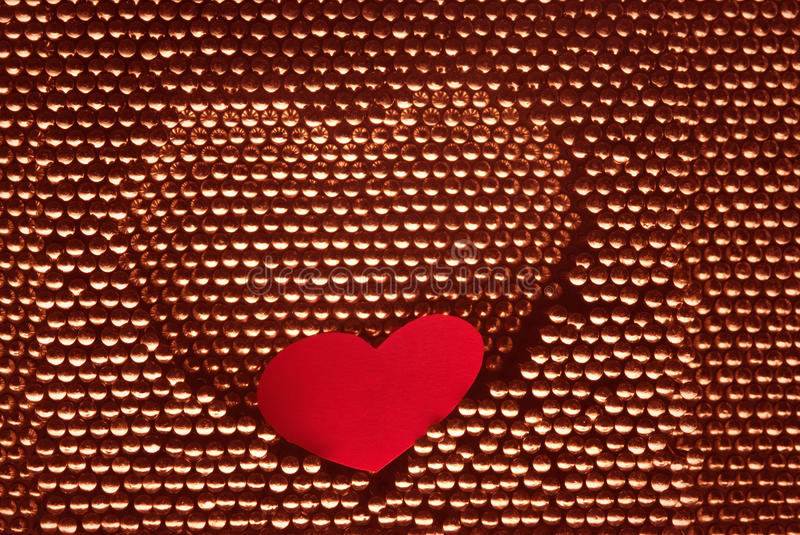 Download Red Paper Heart Into Steel Herat Shape Stock Photo - Image: 20091096