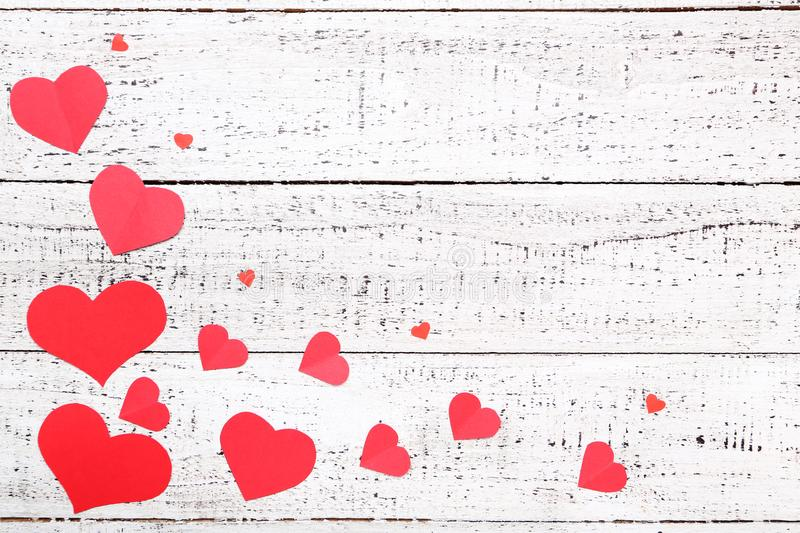 Red paper hearts royalty free stock photos
