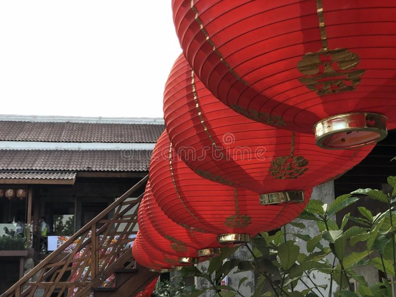 Red paper lantern royalty free stock photo