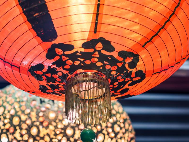 Red paper lantern decoration Chinese New year for lucky beautiful traditional background royalty free stock photos