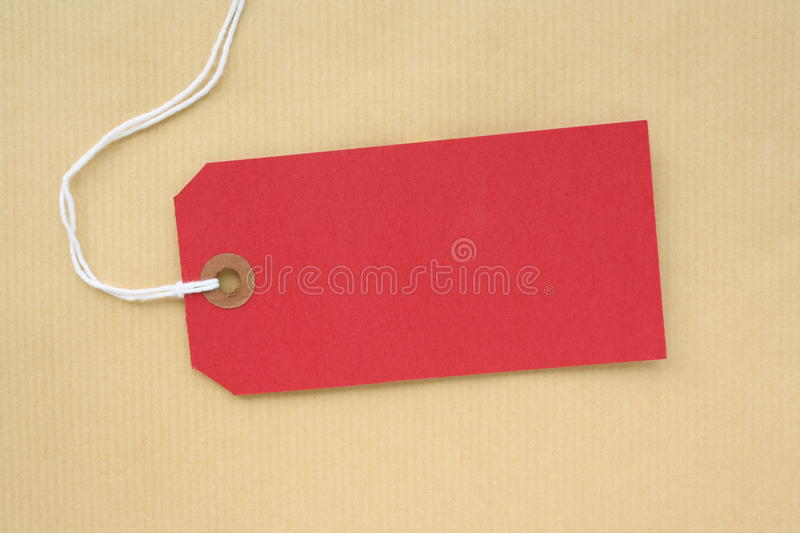 Download Red Paper Luggage Tag stock image. Image of label, background - 16061451