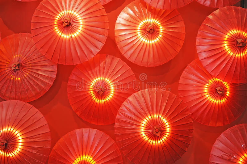 Download Red paper umbrella stock image. Image of decoration, folk - 13596255