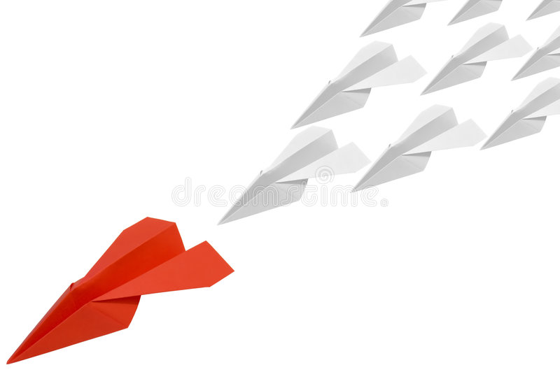 Red_paperplane_4 stockfotografie