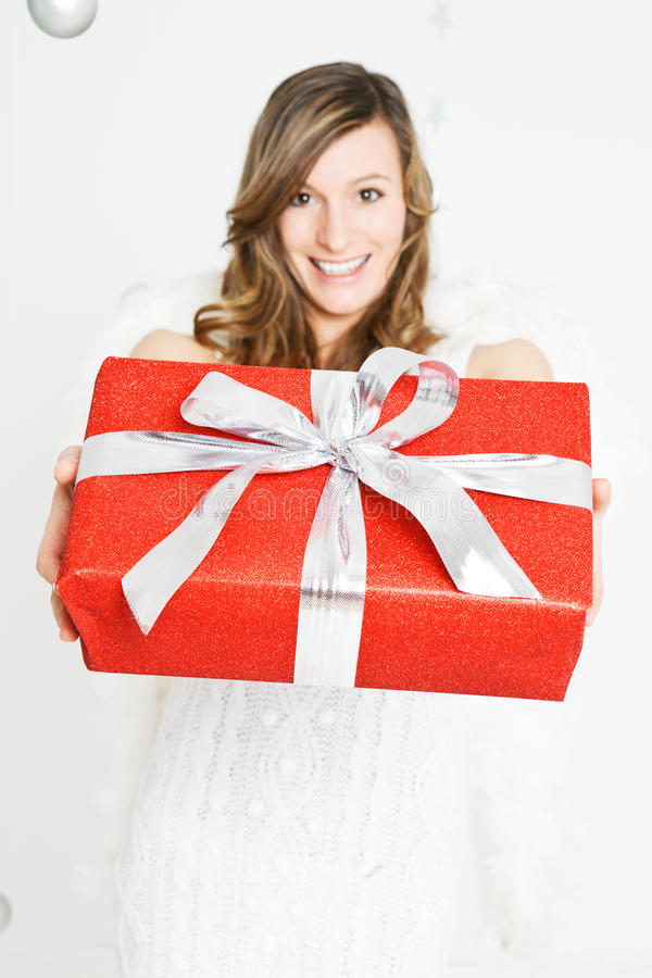 Red parcel stock photo