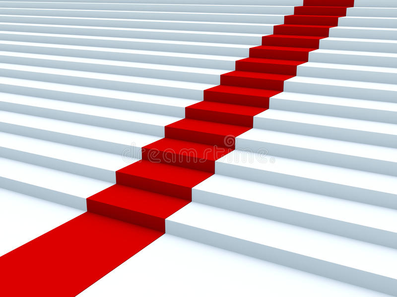 Download Red path stock illustration. Image of action, victory - 12816370