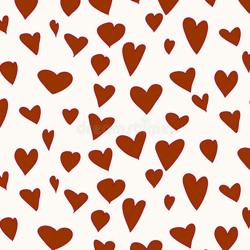 Red pattern with hearts. Vector illustration stock illustration