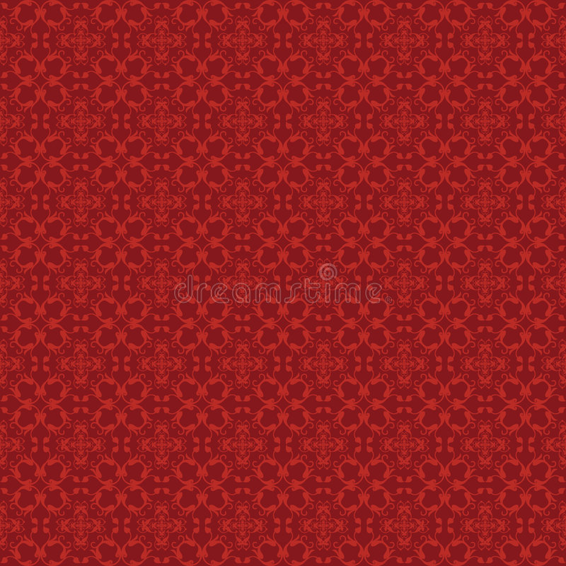 Red Pattern - Vines stock images