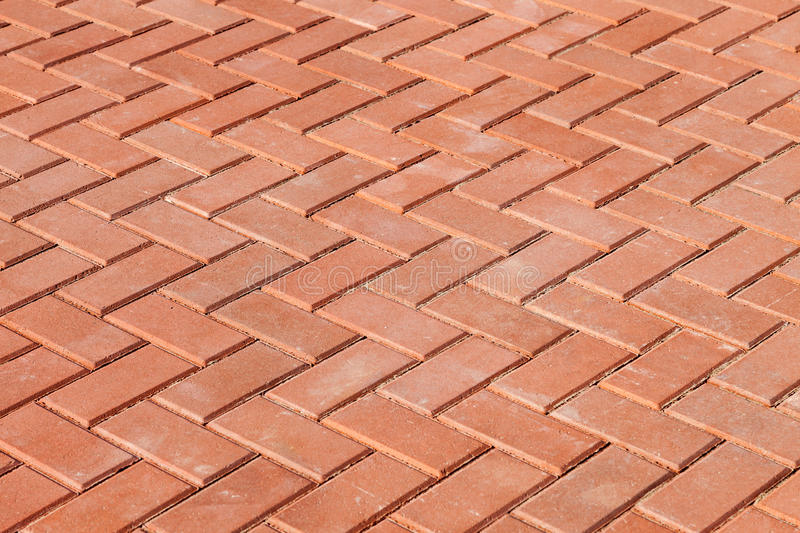 Red paving stones. As background stock image